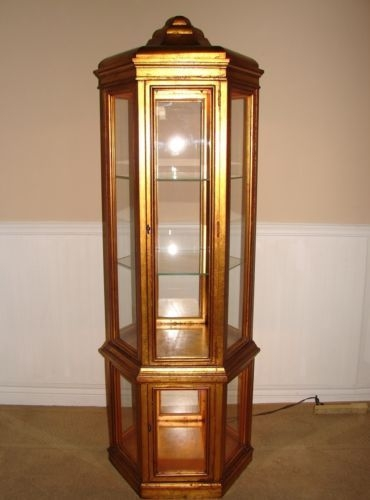 Exceptionnel Gold Curio Cabinets Foter