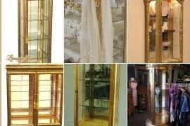Bon Gold Curio Cabinets