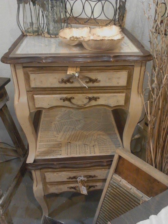 Delicieux Hand Painted French Country End Tables