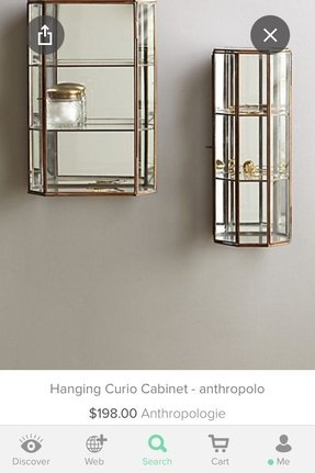 Hanging curio display cabinet