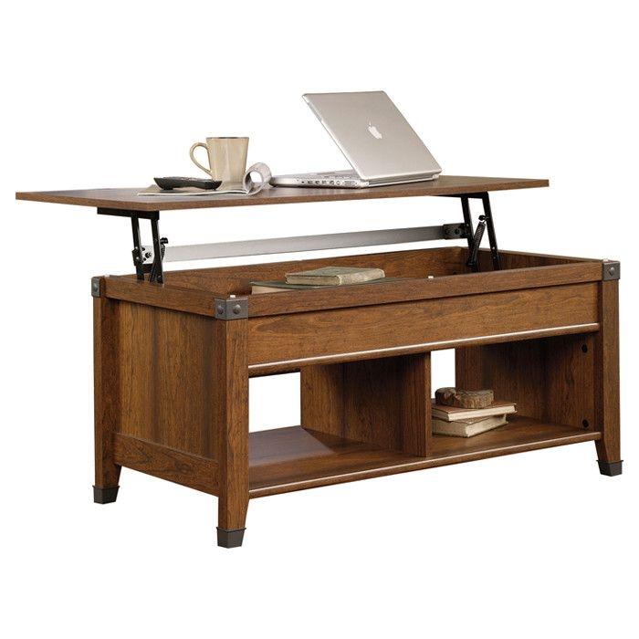 Hide & Chic: Storage Favorites Carson Forge Lift Top Coffee Table In Cherry