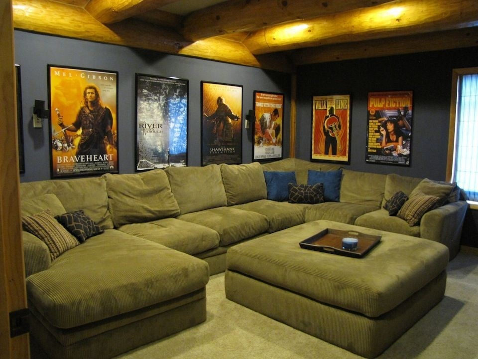 Attractive Home Theater Sectional Sofas
