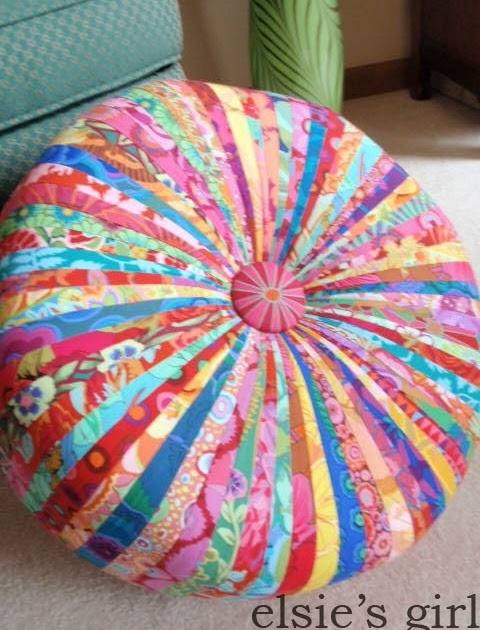 Patchwork ottomans foter how to make a round pouf ottoman solutioingenieria Images
