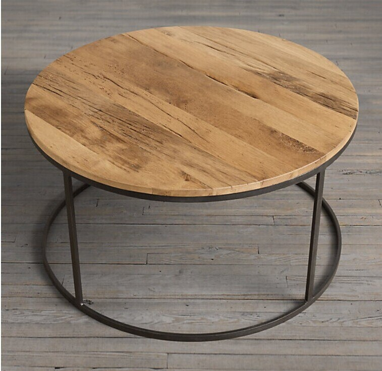 Industrial round coffee table 1