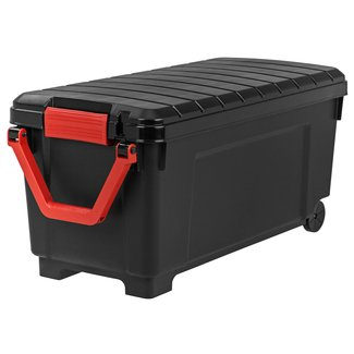 IRIS 42.25 Gallon Storage Trunk with Wheels, SIA-1000H (Black/Red)