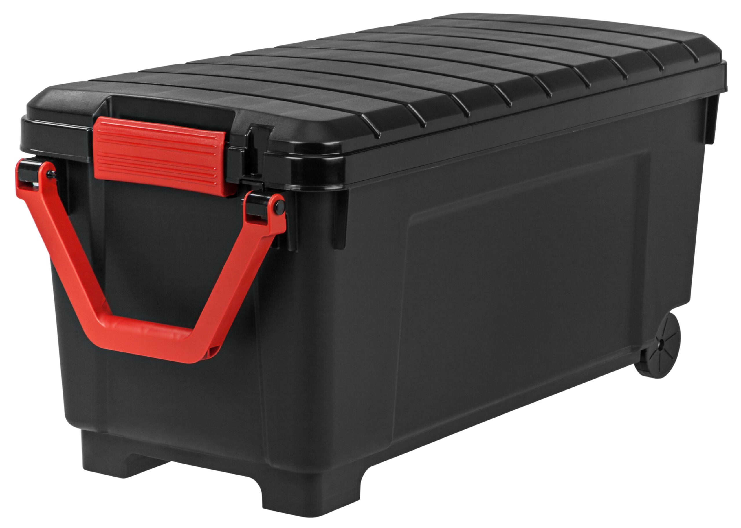 IRIS 42.25 Gallon Storage Trunk with Wheels SIA-1000H (Black/Red)  sc 1 st  Foter & Heavy Duty Trunks - Foter