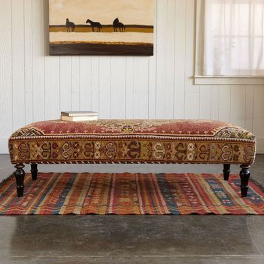 Kilim coffee table