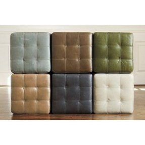 Leather cube ottomans 2