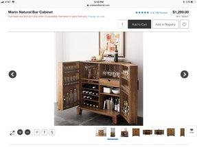 Living Room Bar Cabinet - Foter