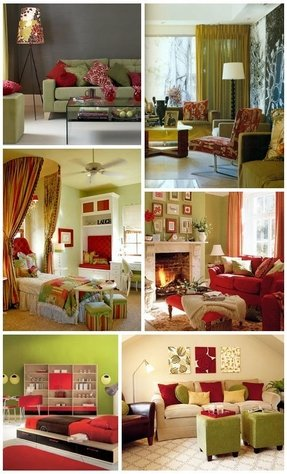 Living room color schemes olive green couch