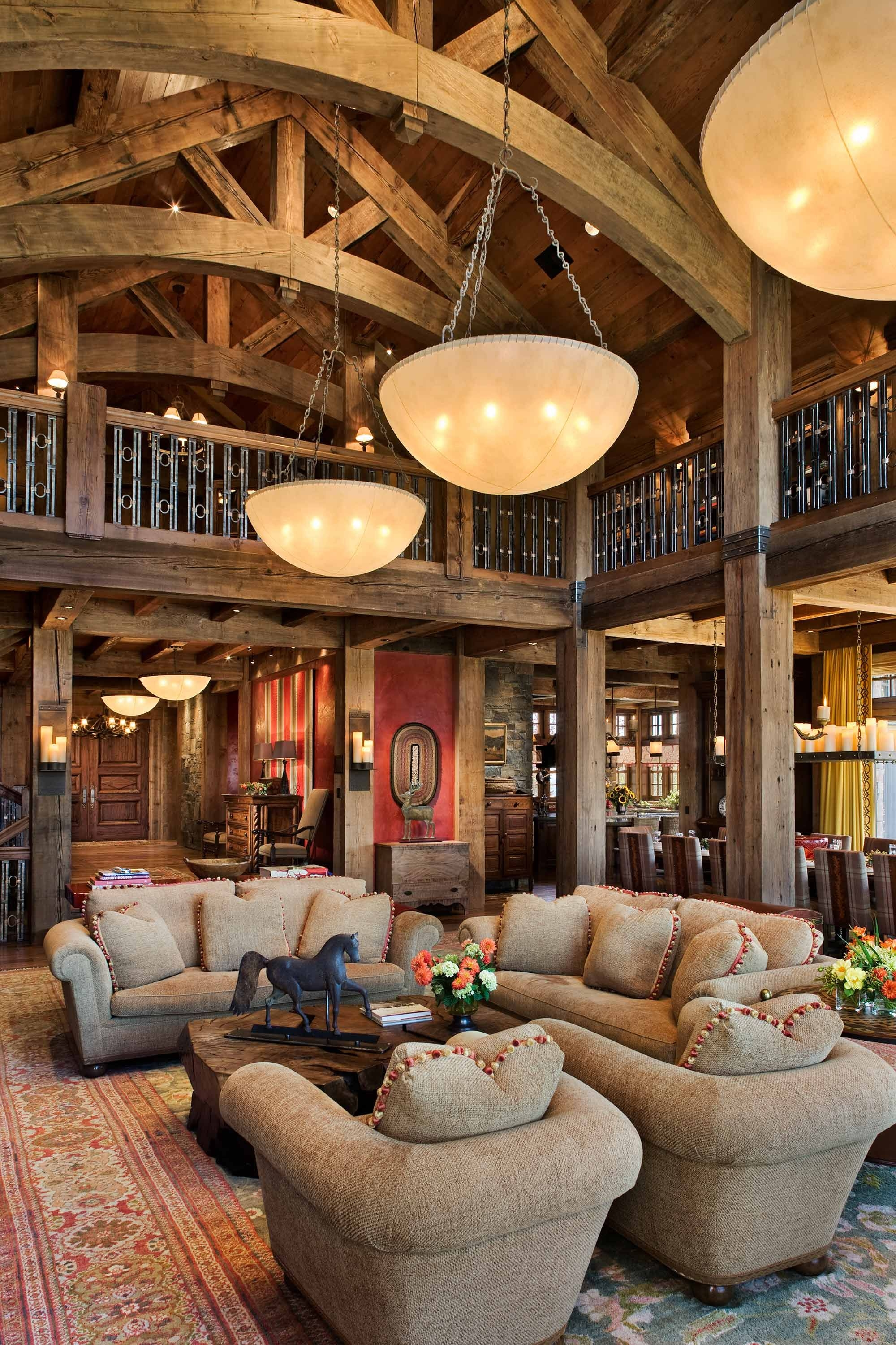 Incroyable Lodge Style Living Room