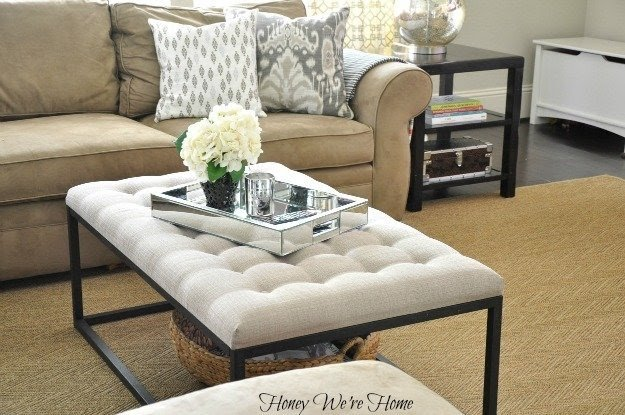 Mirrored Ottoman Tray Foter