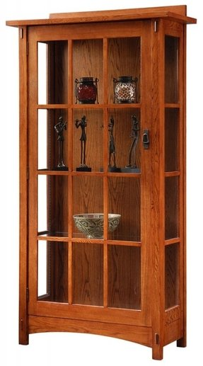 Mission style corner cabinet