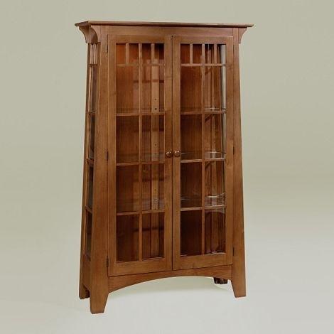 Merveilleux Mission Style Curio Cabinet