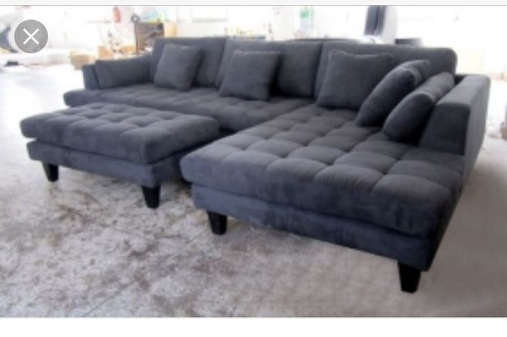 Grey Sectional Couches. Modern Microfiber Sectional Sofa Grey Couches