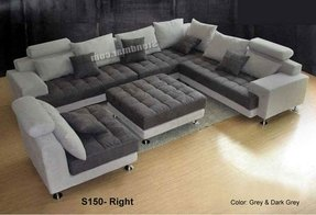 Modern Microfiber Sectional Sofa