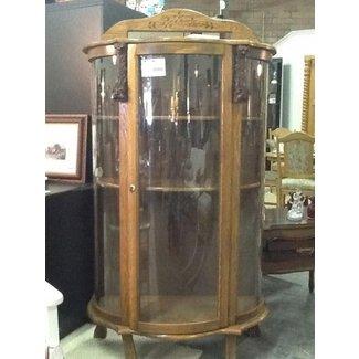 Oak Curio Cabinet 1