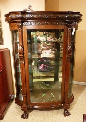 Oak Curio Cabinets 1
