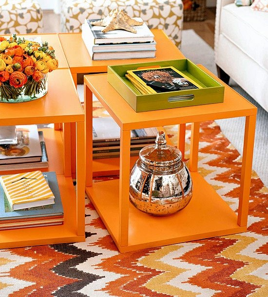 Orange End Tables