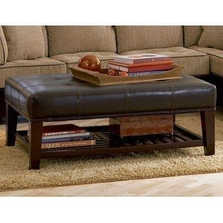 The Lovely Coffee Table, Which Is Upholstered By The Faux Leather. I Really  Like The Ottoman Function Of This Table And The Storage Under The Top.