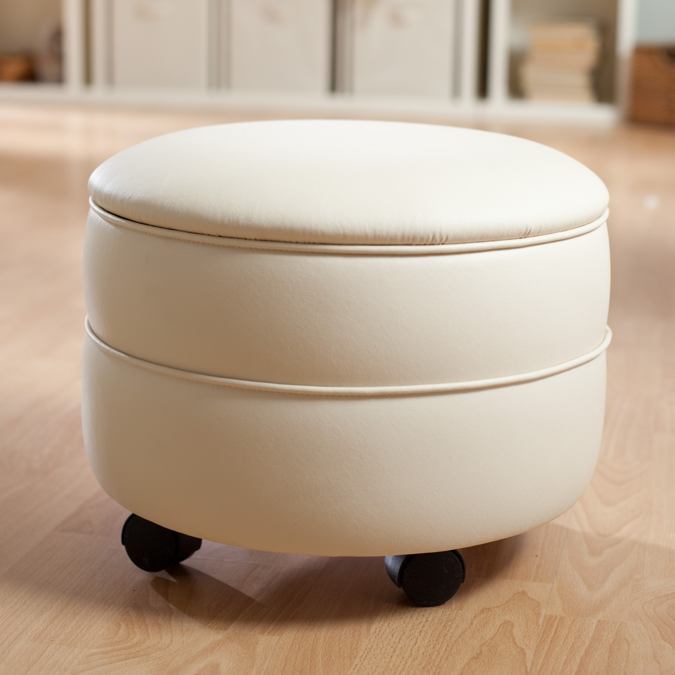 Ottomans With Wheels Foter Stunning Pouf On Wheels