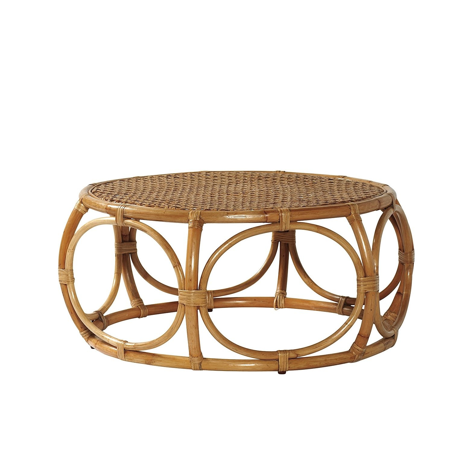 Outdoor rattan coffee table