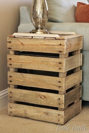 crate end table - foter Night Stands Made from Pallets
