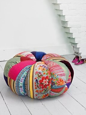Patchwork ottomans 4