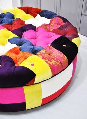 Patchwork ottomans 9