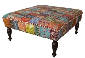 Patchwork ottomans