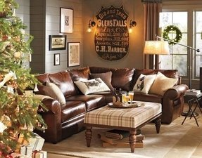 Pearce leather 3 piece l shaped sectional wedge
