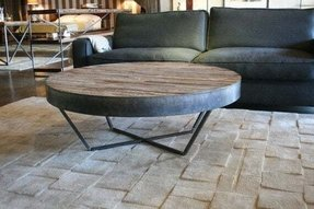 Reclaimed Wood Round Coffee Table 2