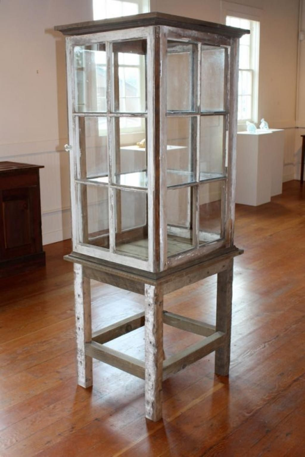 Recycled window display cabinet