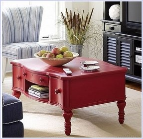 Red coffee table 6