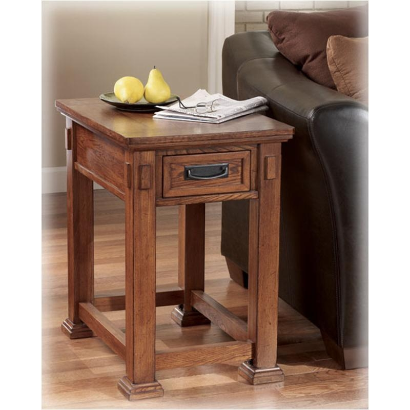 Round Oak End Tables