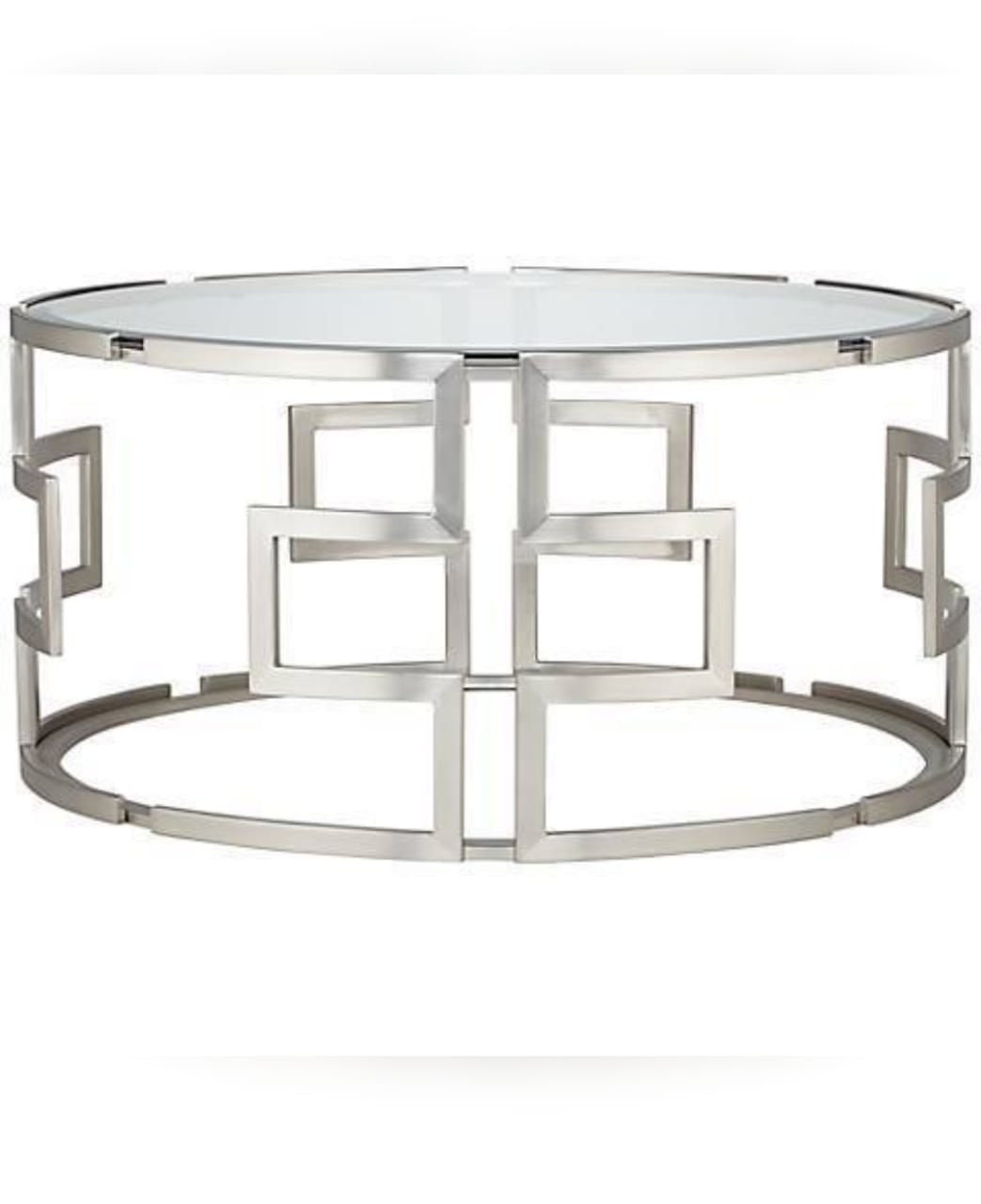 Superieur Round Silver Coffee Table