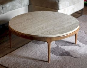 stone top coffee table Round Stone Top Coffee Table   Foter stone top coffee table