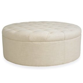 Round storage ottoman coffee table 1