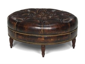 Round Tufted Leather Ottoman Ideas On Foter