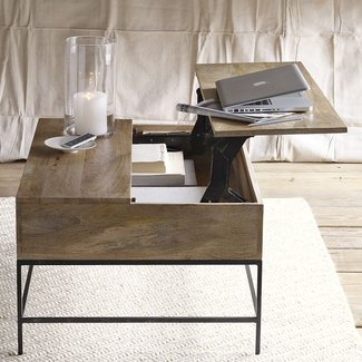 Rustic storage coffee table 2