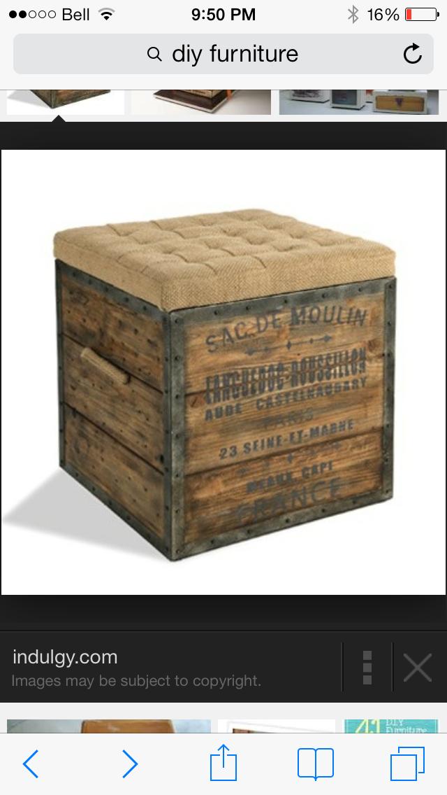 Attrayant Rustic Storage Ottoman