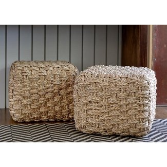 Seagrass ottomans 1