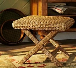 Seagrass x cross stool