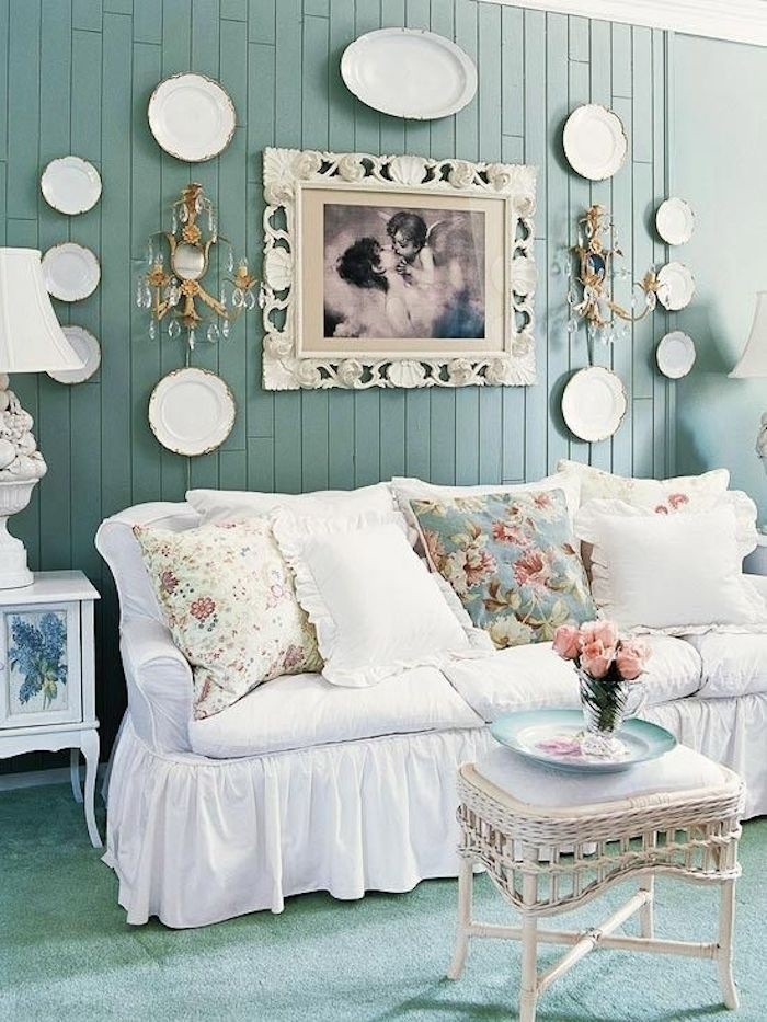 Genial Shabby Chic Slipcovers For Sofas