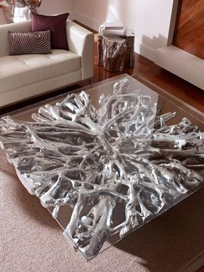 Silver coffee tables