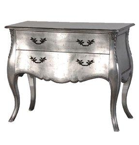 Silver end tables