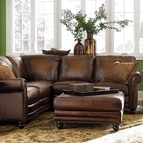 Small Leather Sectional Sofa - Foter