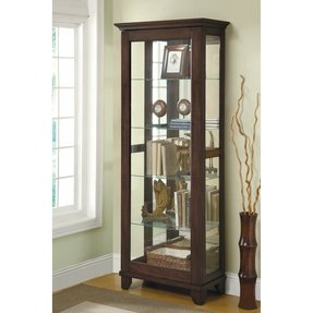 Solid wood curio cabinets