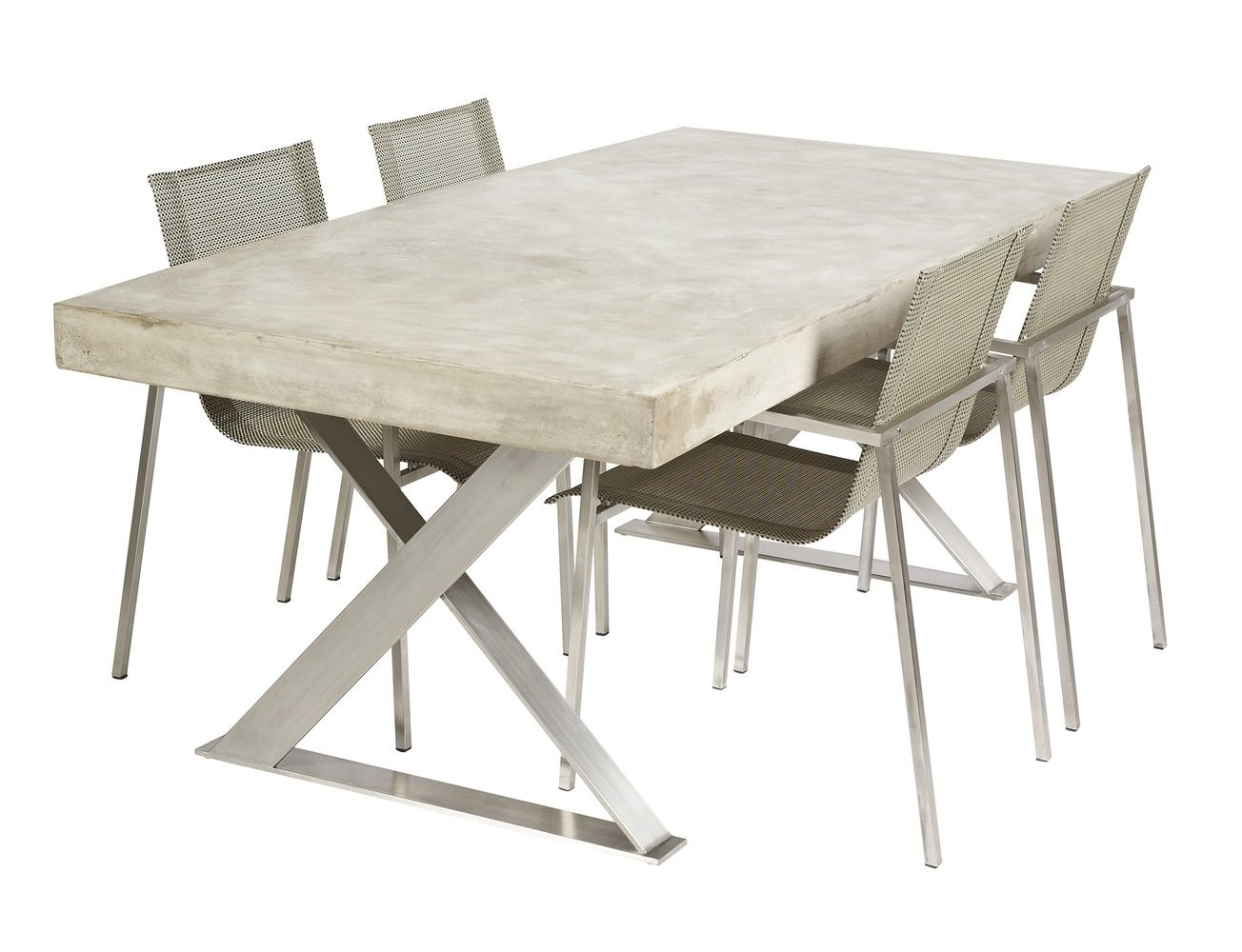 Beau Stainless Steel Dinning Table