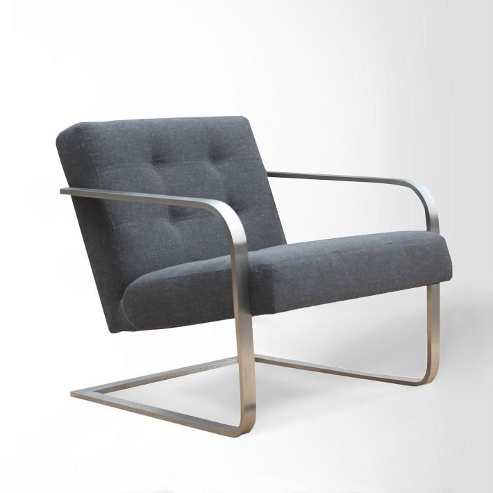 Steel Armed Bend Chair Shale